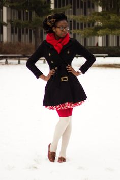 Adorable winter outfit! #ugg #boots