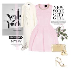 """NYFW"" by rever-de-paris ❤ liked on Polyvore featuring RoomMates Decor, Joseph, Simone Rocha, Gianvito Rossi, Chloé, Jennifer Fisher, Harry Winston, Alexander McQueen, women's clothing and women"