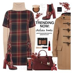 """""""Trending Now: Chelsea Boots / Prada Cap-Toe Leather Chelsea Boot"""" by palmtreesandpompoms ❤ liked on Polyvore featuring Burberry, Loro Piana, Dorothy Perkins, Prada, MICHAEL Michael Kors, Giorgio Armani, NARS Cosmetics, Too Faced Cosmetics and neimanmarcus"""
