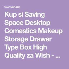 Buy Saving Space Desktop Comestics Makeup Storage Drawer Type Box High Quality at Wish - Shopping Made Fun Makeup Storage Drawers, Drawer Design, Jewelry Organization, Desktop, Space, Box, Display, Jewelry Storage, Boxes