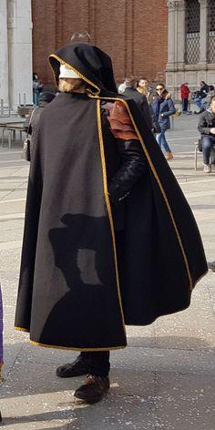 Black hooded cloak  Medieval knight cloak  elven cloak