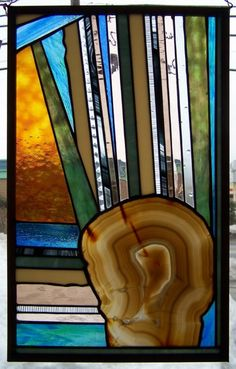geode stained glass, beautiful <3
