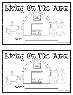 Farm Animals - Emergent Reader with traceable words and vocabulary cards.