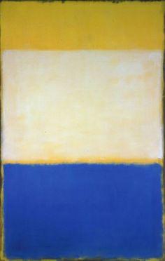 """topcat77: """"Mark Rothko No. 6 (Yellow, White, Blue over Yellow on Gray), 1954 """""""