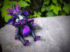 Polymer Clay Galaxy Dragon 'Andromeda' - Limited Edition Handmade Collectible by KatersAcres on Etsy