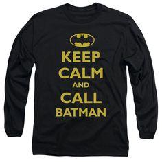 Batman/Call Batman Long Sleeve Adult T-Shirt 18/1 in