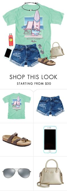 """""""Go and comment on my """"Casual Day"""" set I posted a few days ago for some likes and possibly a follow!"""" by hopemarlee ❤ liked on Polyvore featuring Levi's, Birkenstock, Lilly Pulitzer, Ray-Ban, Kate Spade, women's clothing, women, female, woman and misses"""