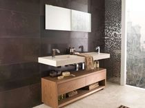 Indoor tile / wall-mounted / marble / polished
