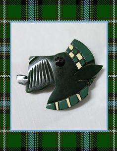 Vintage Bakelite Scottie Pin