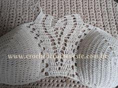 crochelinhasagulhas: Cropped em crochê