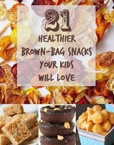 21 Healthier Snacks Your Kids Will Actually Want To Eat. I don't have kids but I would make these for ME!