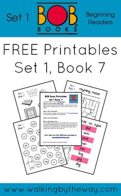 Free bob book printables for set 1 book 7 from walking by the way learn to read Reading Activities, Teaching Reading, Preschool Activities, Phonics Reading, Student Reading, Kindergarten Worksheets, Teaching Tools, Reading Comprehension, Sight Words