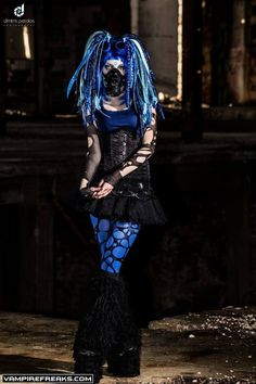 #Cybergoth girl from #Vampirefreaks and Absinthia Stacy