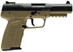 New FNH Five-Seven 5.7x28mm FDE $1299 - http://www.gungrove.com/new-fnh-five-seven-5-7x28mm-fde-1299/
