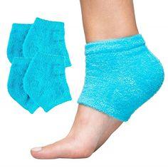 ZenToes Moisturizing Heel Socks 2 Pairs Gel Lined Toeless Spa Socks to Heal and Treat Dry, Cracked Heels While You Sleep (Cotton, Blue) Dry Heels, Soft Heels, Socks And Heels, Dry Cracked Heels, Cracked Feet, Gel Socks, Foot Socks, Flip Flop Socks, Stocking Stuffers For Men