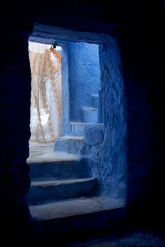 The blue from Chefchaouen, Rif Mountains of Morocco by Batistini Gaston, via Flickr