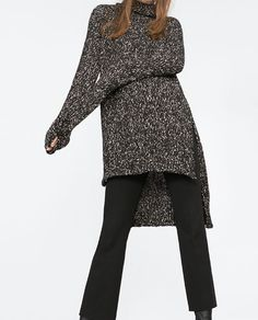 Image 2 of LONG SWEATER WITH HIGH COLLAR from Zara