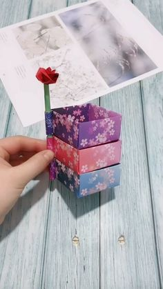 "Origami is not only an art, it is also a method of exercise. ""Origami is good for anyone, whether it is children, young people or the elderl. Diy Crafts Hacks, Diy Crafts For Gifts, Diy Arts And Crafts, Creative Crafts, Kids Crafts, Cute Diy Crafts For Your Room, Creative Box, Creative Makeup, Craft Tutorials"