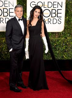 George Clooney, Amal Alamuddin Appear at the 2015 Golden Globes: Photo - Us Weekly