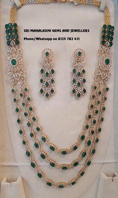 Jewelry Design Earrings, Gold Jewellery Design, Emerald Jewelry, Necklace Designs, Diamond Jewellery, Silver Jewelry, Jewelry Accessories, Indian Jewelry Sets, Indian Wedding Jewelry
