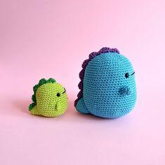 Little Dino Amigurumi Pattern Kawaii Crochet, Cute Crochet, Crochet Crafts, Yarn Crafts, Crochet Projects, Crochet Dinosaur Patterns, Crochet Patterns Amigurumi, Crochet Dolls, Crochet Designs