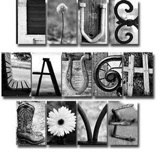 17 Best letters images | Letter art, Letters, Photo letters
