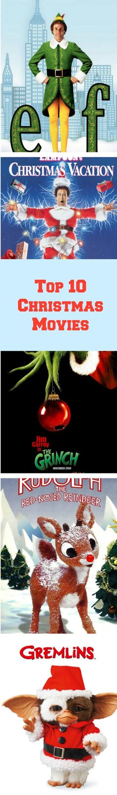 Top 10 best Christmas stories of all time. Click here to see our list of favorite Christmas movies http://www.celluloiddiaries.com/2012/12/favorite-christmas-stories.html (best Christmas stories of all time, favorite Christmas movies, Gremlins, Rudolph the Red-Nosed Reindeer, How the Grinch Stole Christmas, 'Twas the Night Before Christmas, Elf, The Nightmare Before Christmas, National Lampoon's Christmas Vacation, It's a Wonderful Life, A Christmas Carol, A Christmas Story)