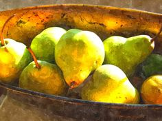 "Saatchi Online Artist: Derrick Armitage; Photomanipulation, 2010, Digital ""Pears in Sunlight"""