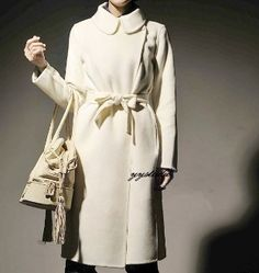 Pure Cashmere Silk and Satin Retro Long Coat by YYStudio