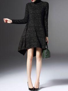Asymmetric Cashmere Sweater Dress