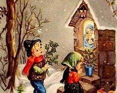 Old Christmas Card — Images Vintage, Vintage Christmas Images, Old Fashioned Christmas, Christmas Scenes, Antique Christmas, Christmas Past, Retro Christmas, Vintage Holiday, Christmas Pictures