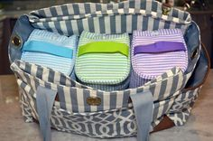 Diaper bag organization! How easy to find what you need and fast! It's Easy Baby!