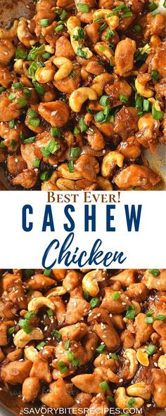 Try this best and easy dinner fix with better than takeout Chinese Cashew Chicken recipe - the sauce is very authentic and tasty,you are going to keep this healthy chicken recipe on your menu! chicken dinner Try This Ultimate Cashew Chicken Stir Fry Chicken Thights Recipes, Chicken Parmesan Recipes, Chicken Salad Recipes, Chinese Chicken Recipes, Chinese Food Recipes Chicken, Homemade Chinese Food, Healthy Chinese, Chicken Ideas, Chicken Cashew Stir Fry
