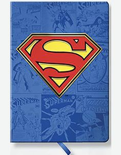 Superman 5¾ʺx 8¼ʺ • 128 Pages • Hardcover Great Gifts For Guys, Gifts For Boys, Book Logo, Office Essentials, Superman, Nostalgia, Comic Books, Design Inspiration, Symbols