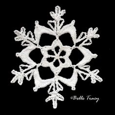 365 Crochet Snowflakes By Belle Tracy Free Crochet Snowflake Patterns, Crochet Motif Patterns, Crochet Stars, Christmas Crochet Patterns, Holiday Crochet, Crochet Snowflakes, Crochet Cross, Tatting Patterns, Thread Crochet
