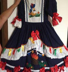 vestido de festa junina feito à mão - menina sem marca