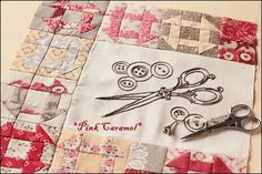 Patchwork *Pink Caramel*: Chateau Rouge  French General fabrics: My heart be still. <3