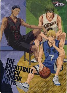 Kuroko no basuke Basketball pencil board shitajiki official Japan Kise Ryota KAIJO ,  Midorima Shintarou SHUTOKU , Aomine Daiki TOO GAKUEN