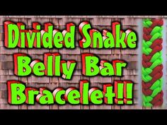 How To Make A Paracord Divided Snake Belly Bar With Buckles. - YouTube