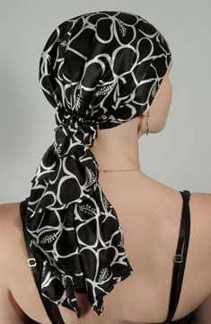 I do this--wear a long scarf to look like a ponytail. :) 4women.com