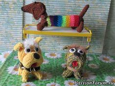 Мои собачульки - запись пользователя Alla в сообществе Мир игрушки в категории Вязаные игрушки. Мастер-классы, схемы, описание.