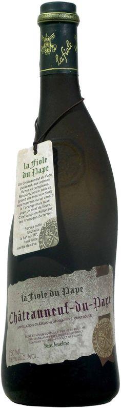La Fiole du Pape Châteauneuf-du-Pape AOC from Rhone Valley, France.