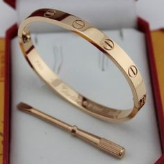 9703e675b6a45 Cartier Love Screw Rose Gold Bracelet With Screwdriver $74.99 Cartier Love  Bracelet, Cartier Love Ring