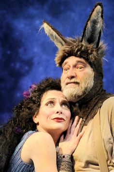 Tracy Michelle Arnold as Titania Ron Orbach as Bottom Midsummer Night's Dream Chicago Shakespeare Theater 2012 credit Liz Lauren