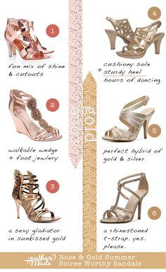 rose gold shoes. heels.
