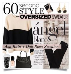 """Oversized sweater"" by ambacasa ❤ liked on Polyvore featuring American Eagle Outfitters, Prada, Sportmax, Könitz, Ash Rain + Oak, Marc by Marc Jacobs and Giorgio Armani"