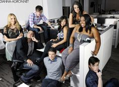 photoshoot. amber riley. lea michele. mark salling. dianna agron. kevin