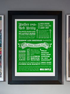 Go on Go on Go on  A2 Father Ted Typographic Print in by typaprint, $45.00