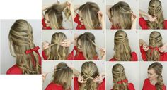 Chica mostrando un tutorial de como realizar trenzas Shoulder Hair, Shoulder Length, Neutral Wedding Nails, Cute Hairstyles, Braided Hairstyles, Herringbone Braid, Braided Updo, Hair Lengths, Shoulder Length Hair