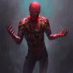"""Arte conceitual do Aranha de Ferro em """"Homem Aranha: De Volta ao Lar""""."""